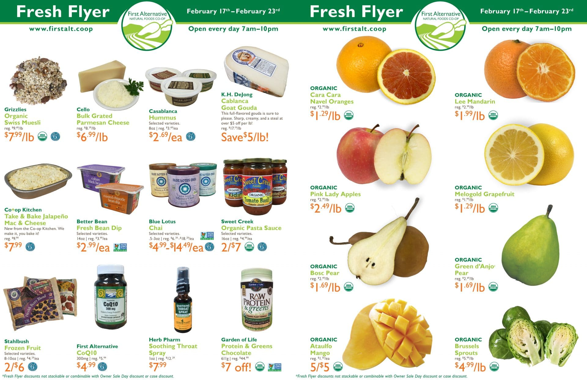 First Alternative Co-op Fresh Flyer February 17 - February 23