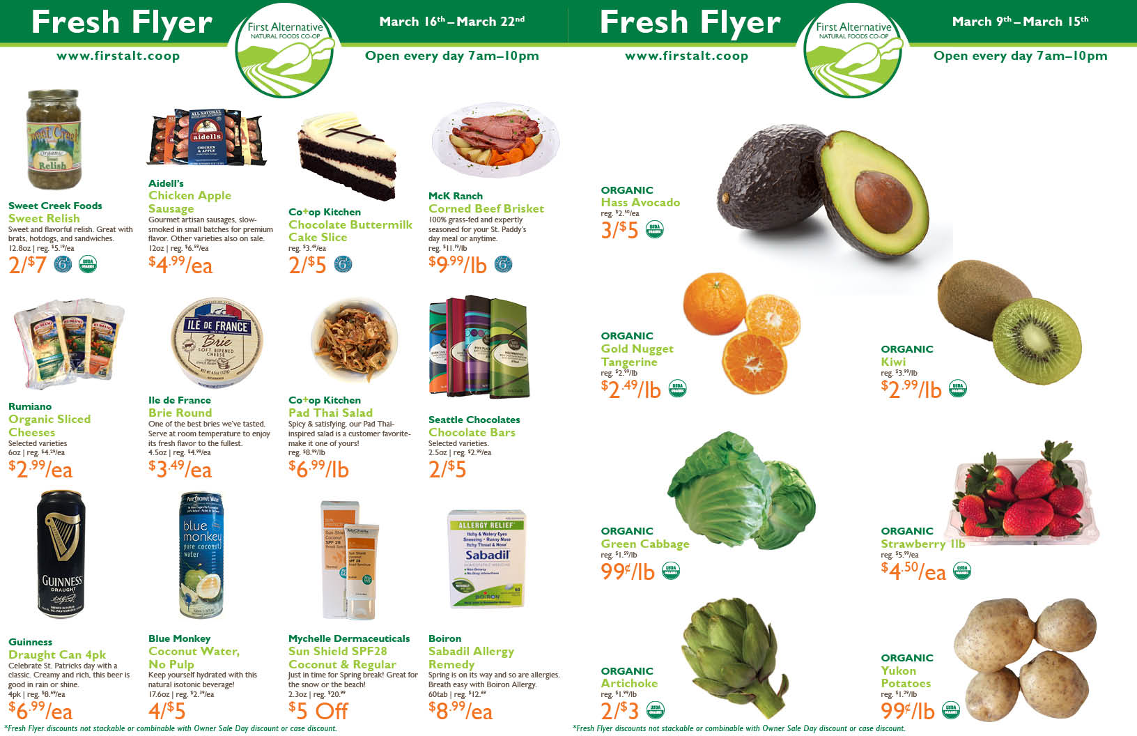 First Alternative Co-op Fresh Flyer March 9 - March 15