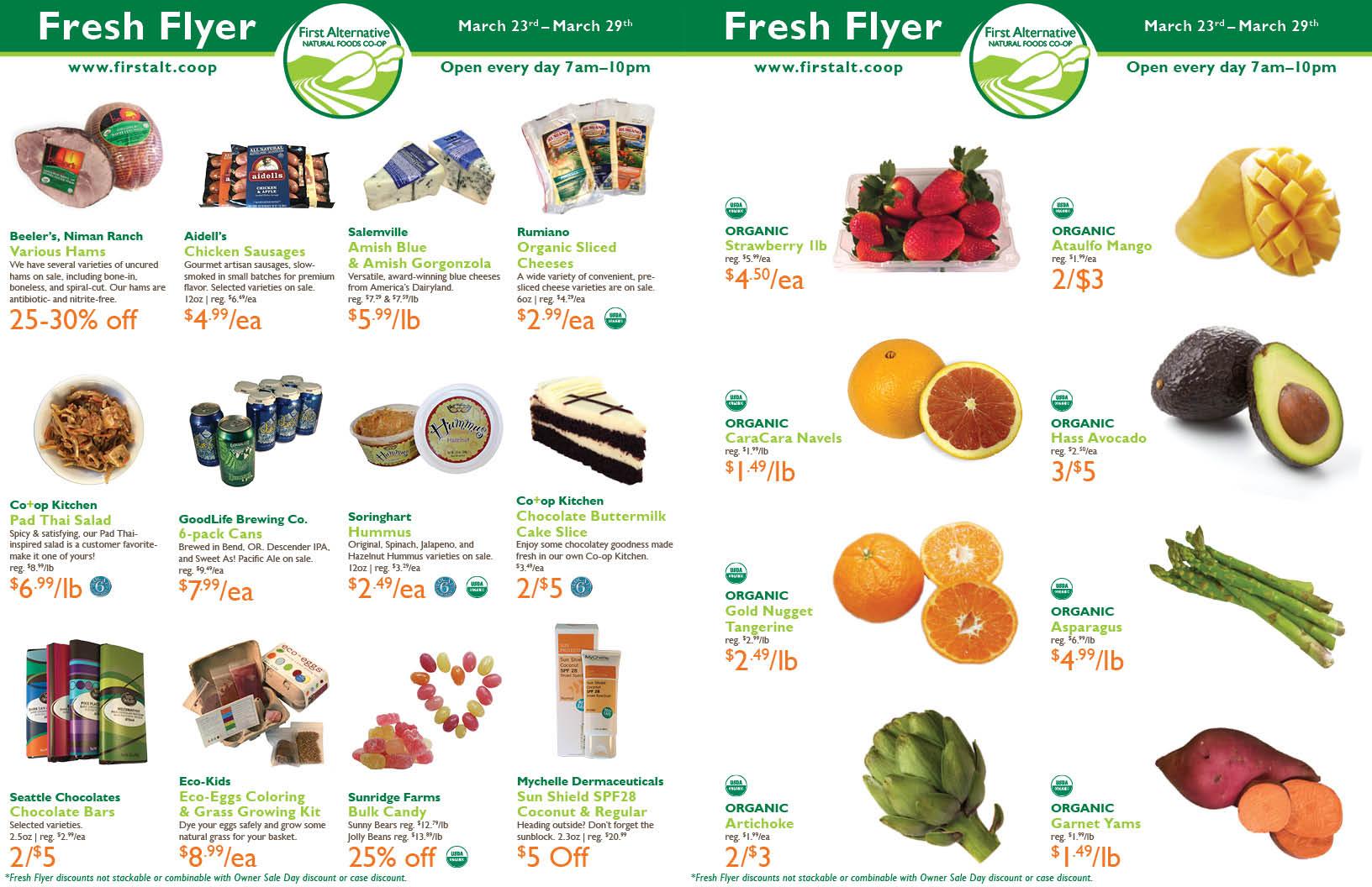 First Alternative Co-op Fresh Flyer March 9 - March 15