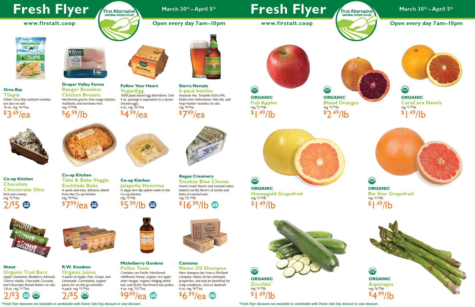 First Alternative Co-op Fresh Flyer March 30 - April 5