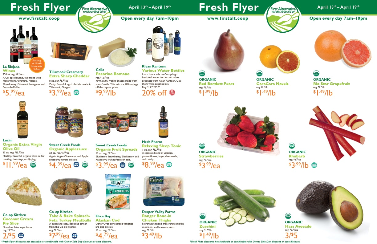 First Alternative Co-op Fresh Flyer April 13-19