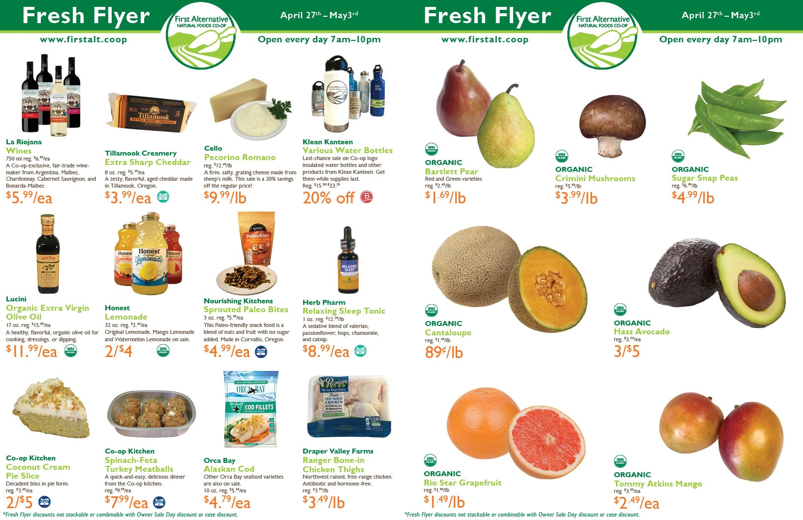 First Alternative Co-op Fresh Flyer April 27-May 3