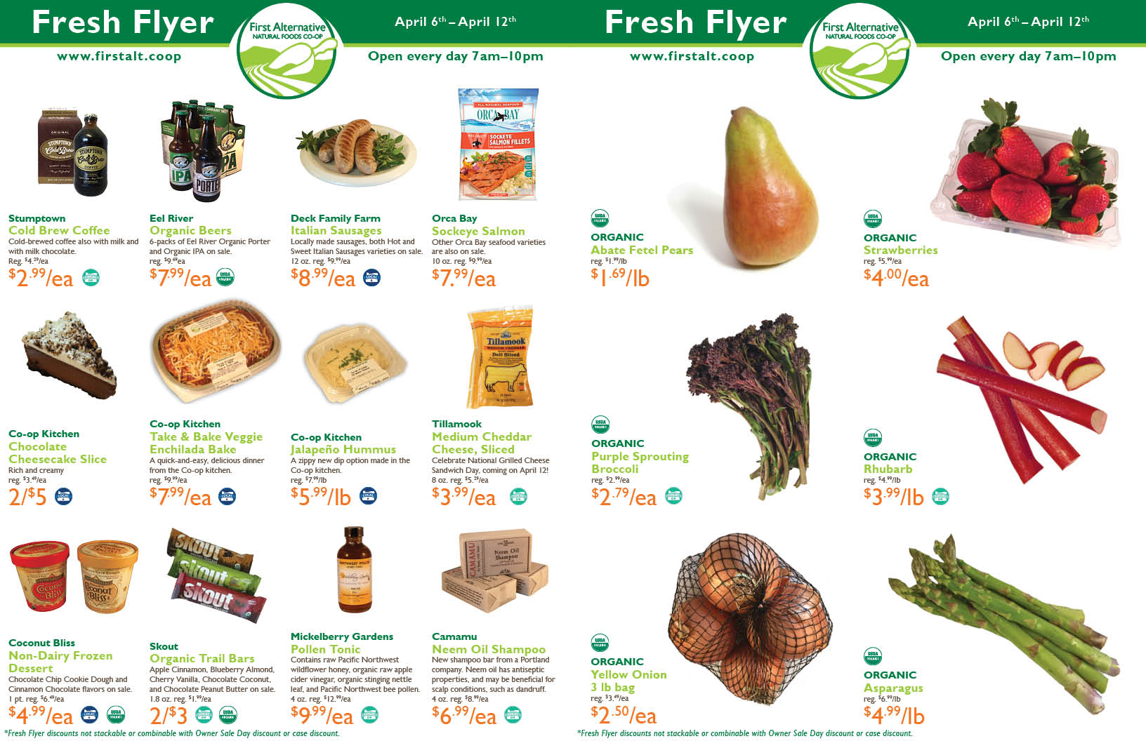 First Alternative Co-op Fresh Flyer April 6-12