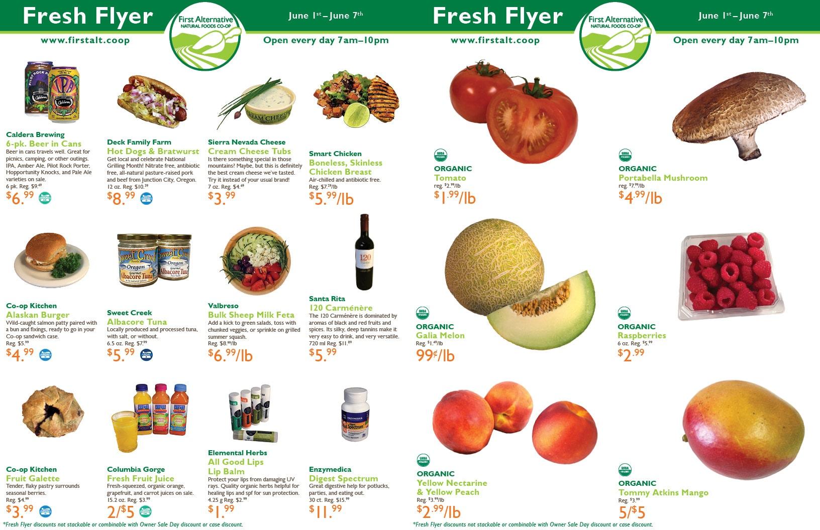 First Alternative Co-op Fresh Flyer June 1-7
