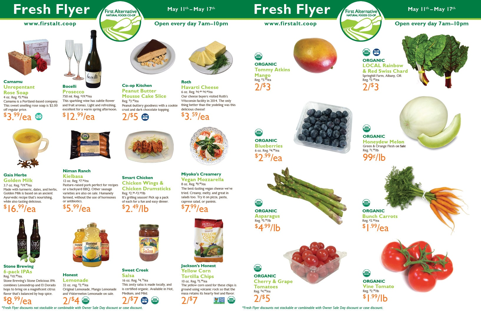 First Alternative Co-op Fresh Flyer May 11-17