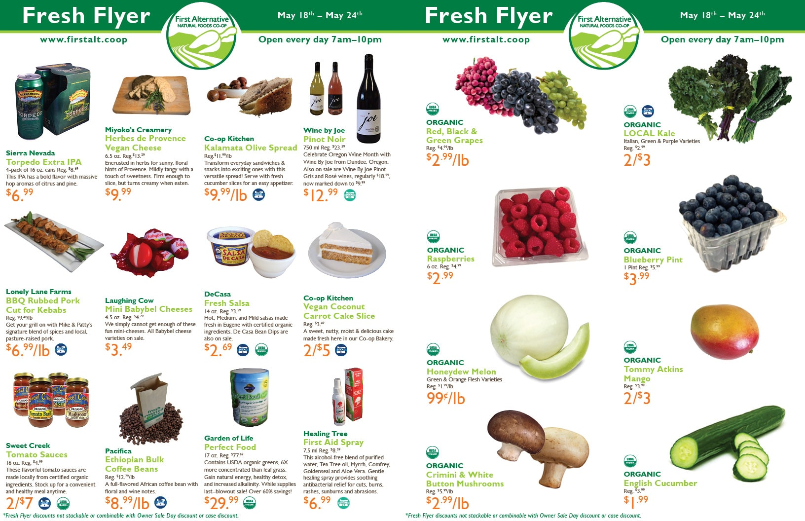 First Alternative Co-op Fresh Flyer May 18-24