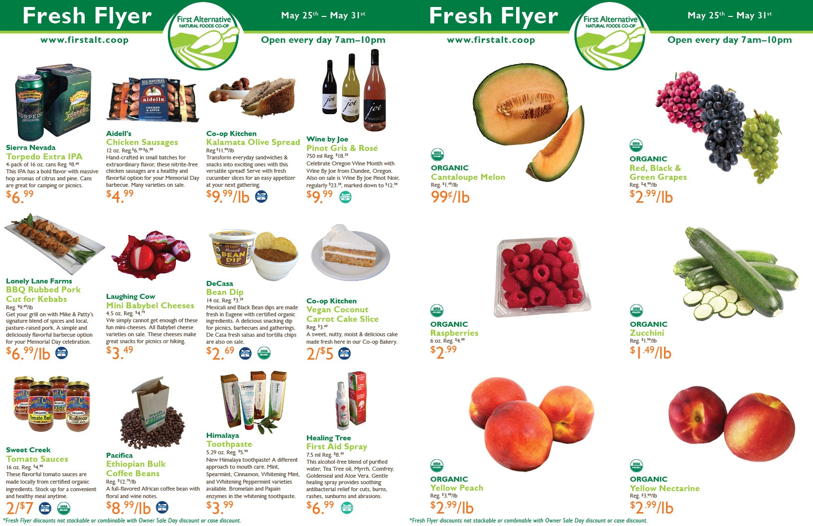 First Alternative Co-op Fresh Flyer May 25-31