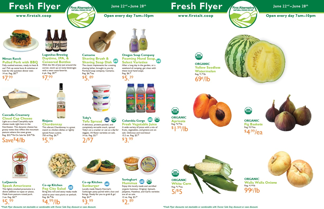 First Alternative Co-op Fresh Flyer June 22-28