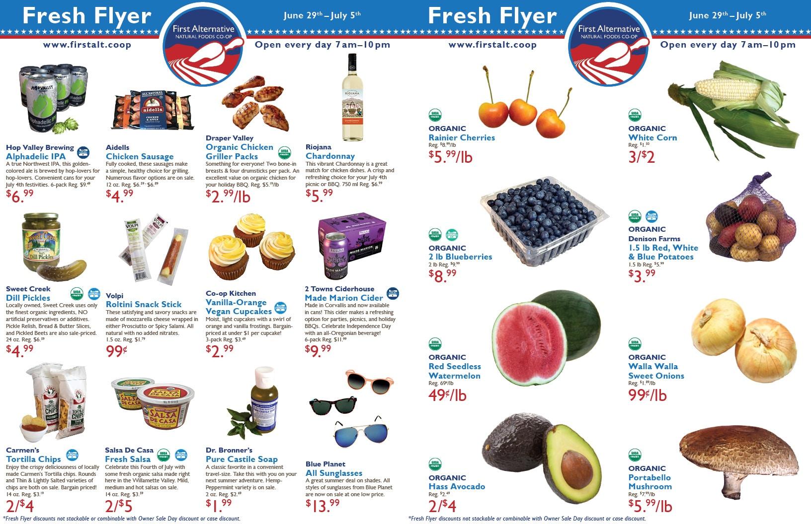 First Alternative Co-op Fresh Flyer June 29-July 5