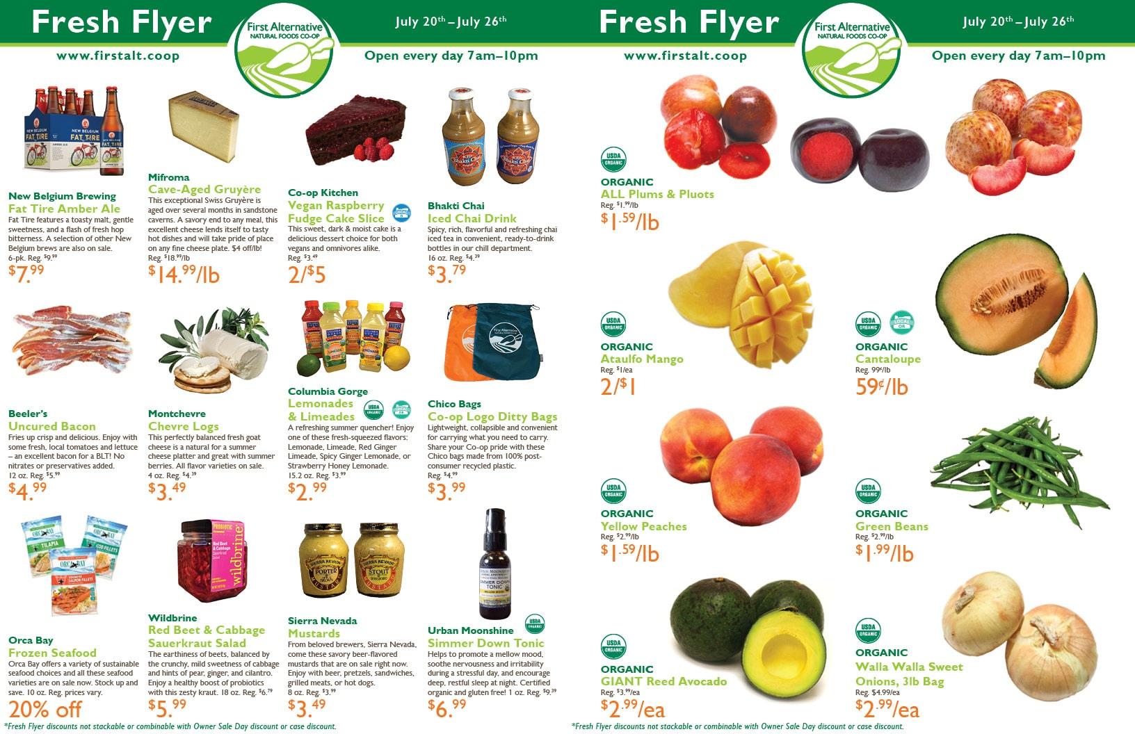 First Alternative Co-op Fresh Flyer July 20-26