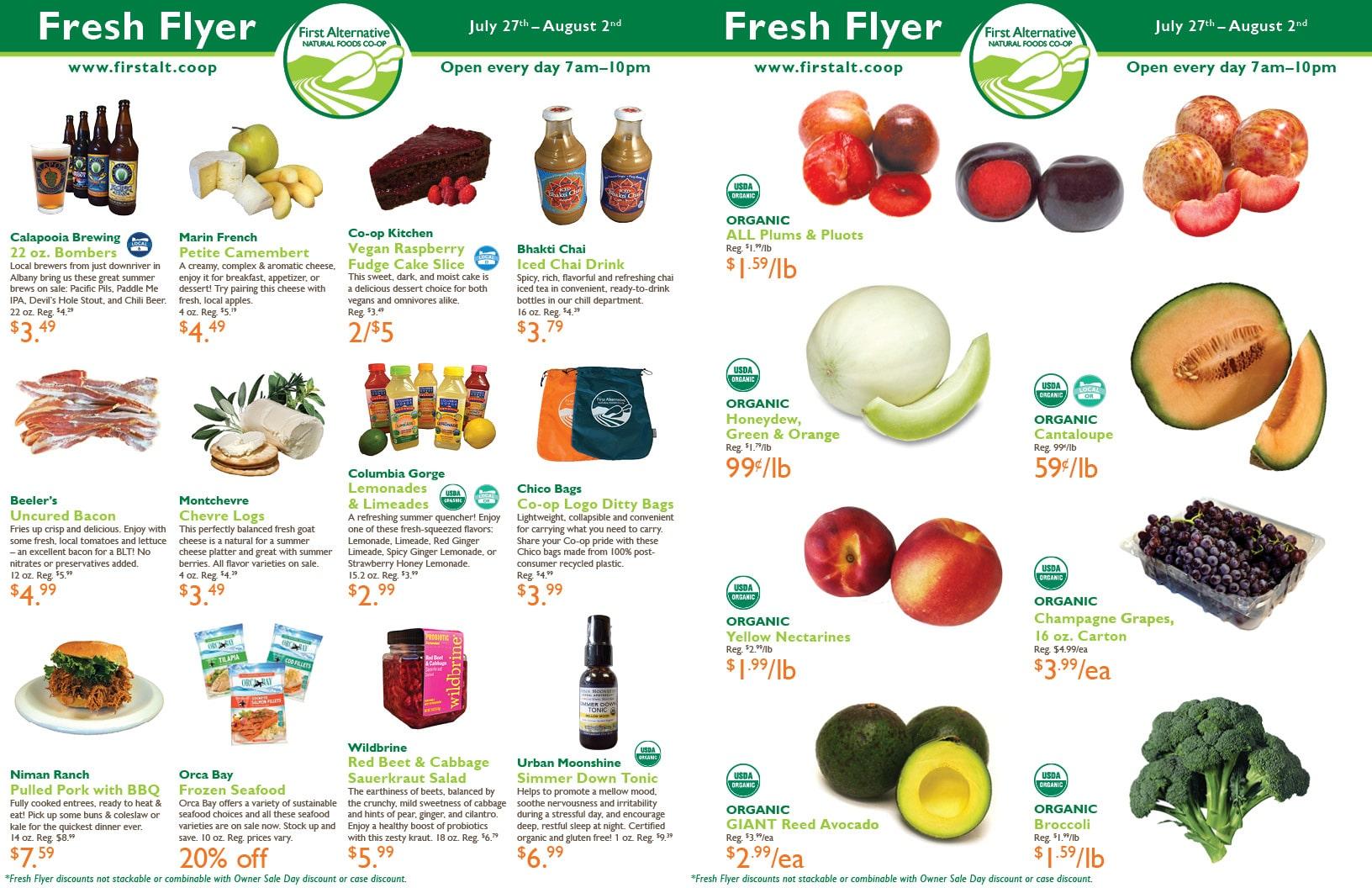 First Alternative Fresh Flyer July 27-Aug 2