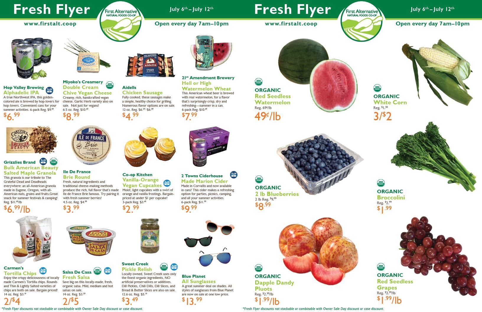 First Alternative Co-op Fresh Flyer July 6-12