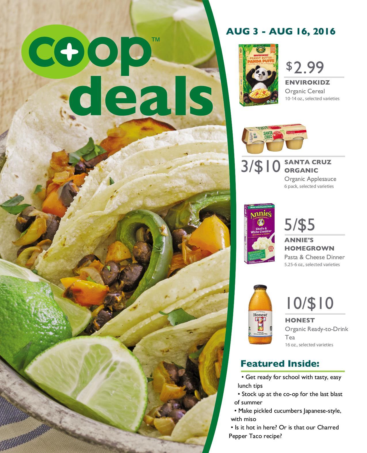 Co+op Deals August 2016 - Flyer A