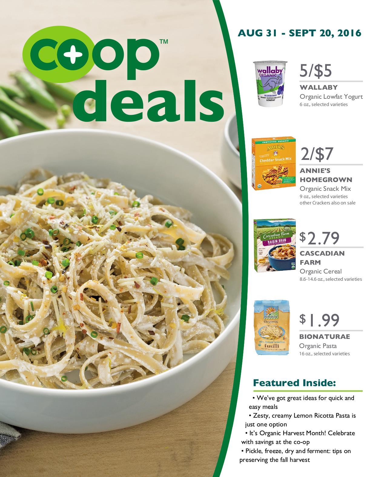 Co+op Deals September 2016 - Flyer A