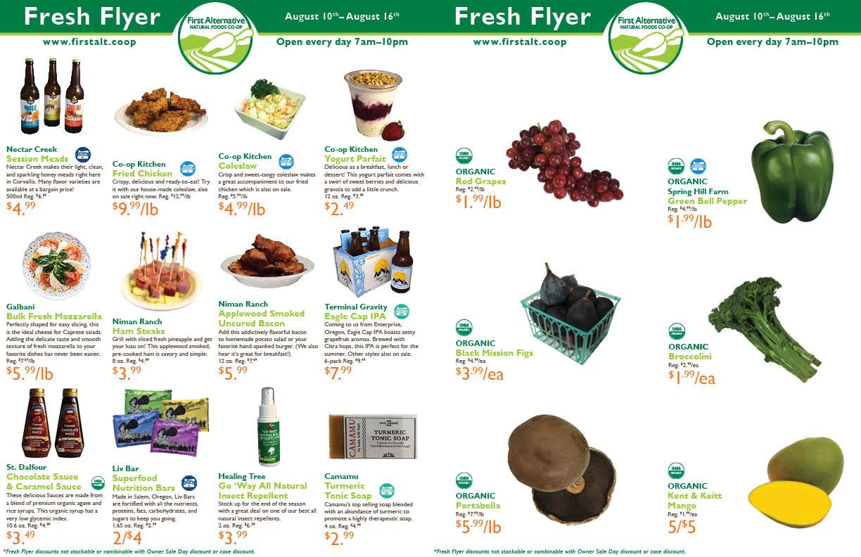 First Alternative Co-op Fresh Flyer August 10-16
