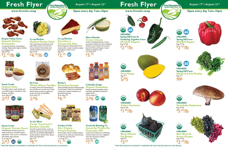 First Alternative Co-op Fresh Flyer August 17-23