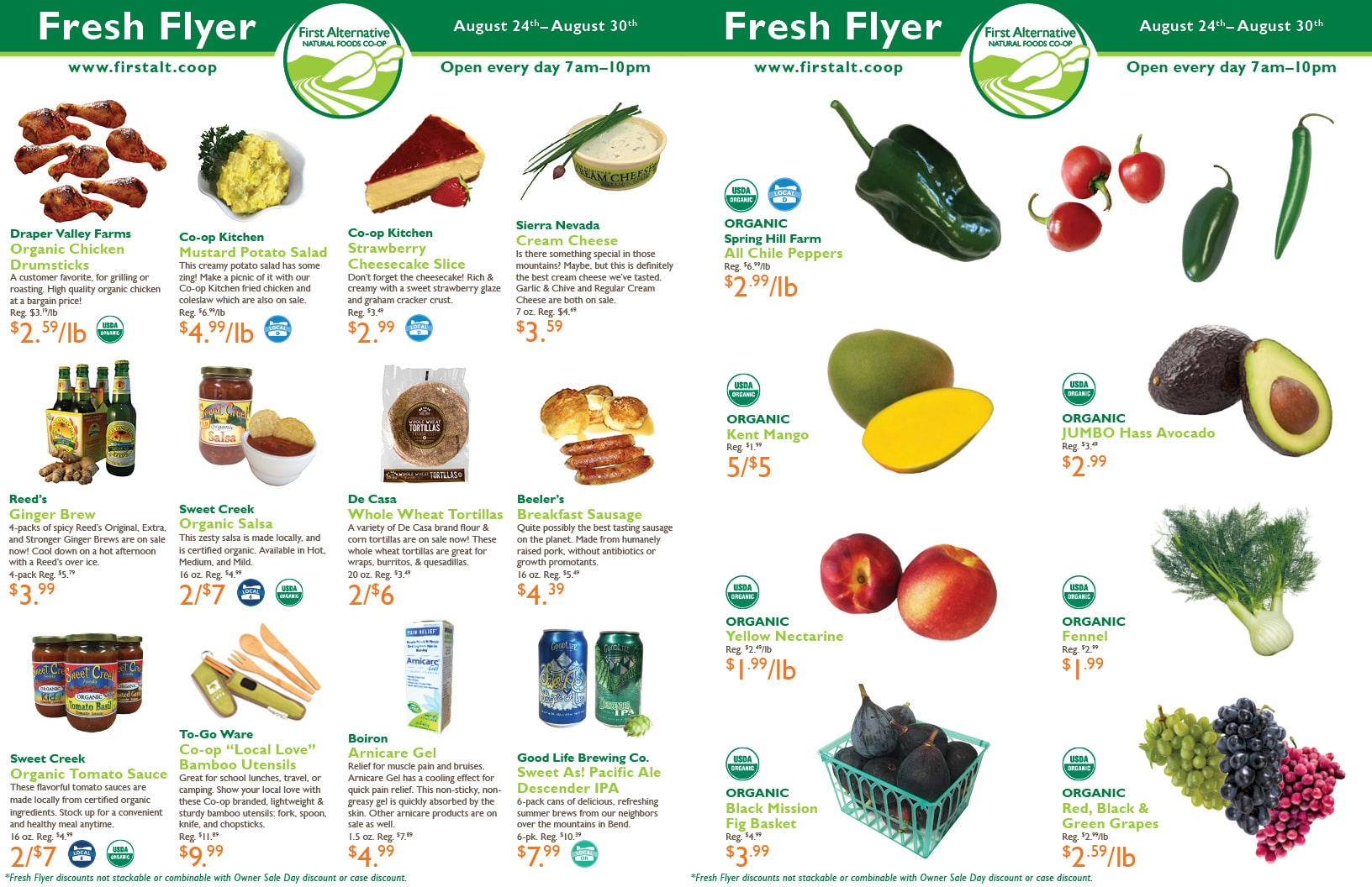 First Alternative Co-op Fresh Flyer August 24-30