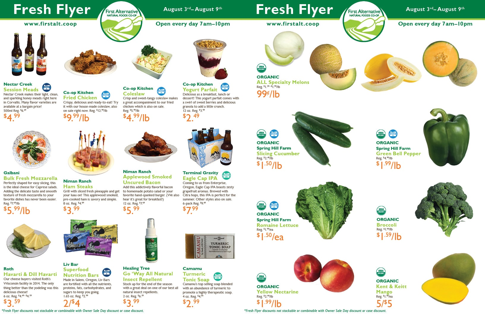 First Alternative Co-op Fresh Flyer August 3-9