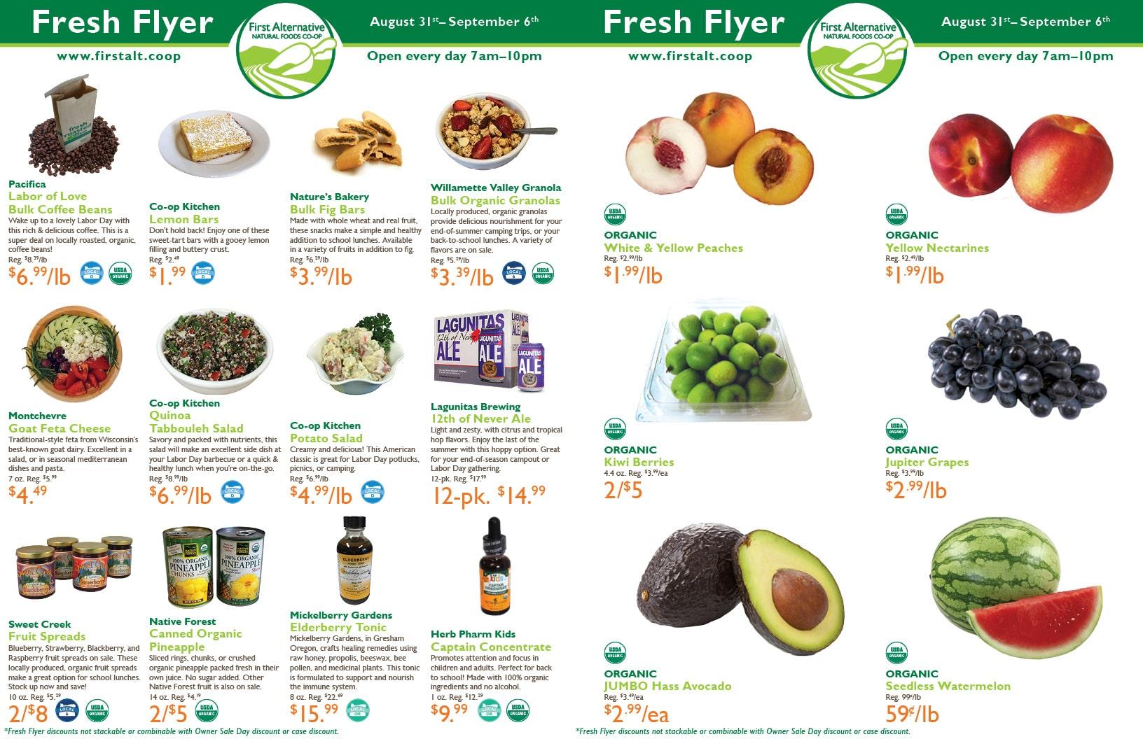 First Alternative Co-op Fresh Flyer August 31-September 6
