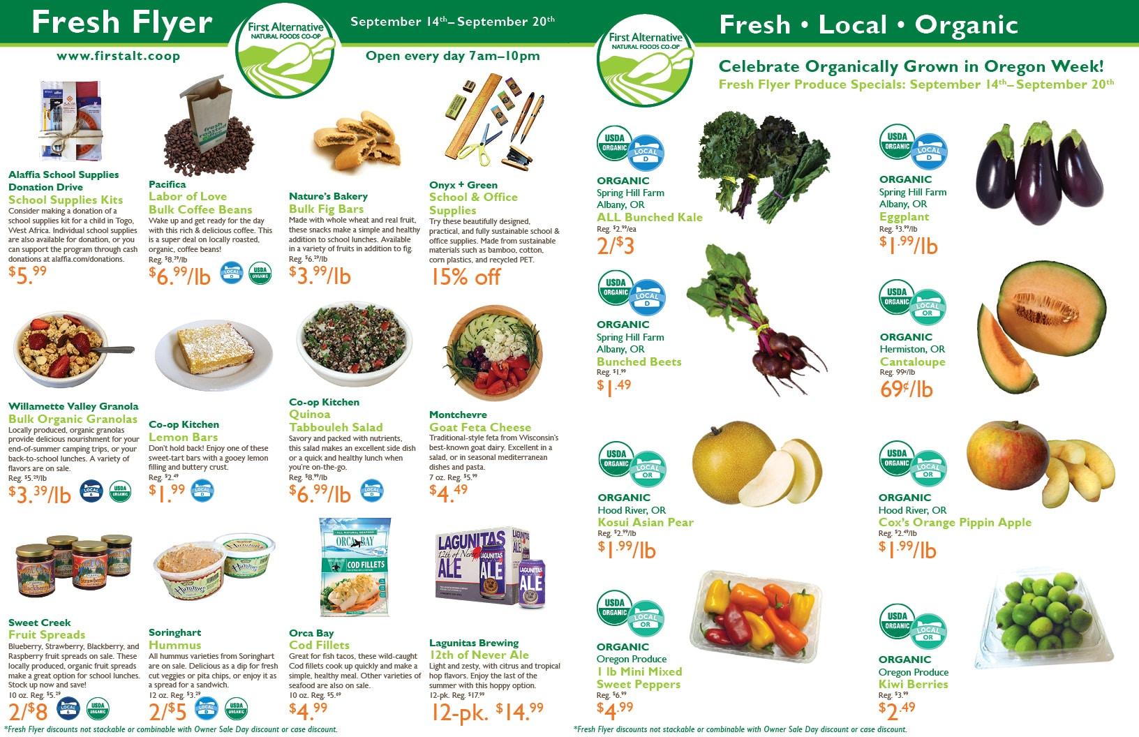 First Alternative Co-op Fresh Flyer September 14-20