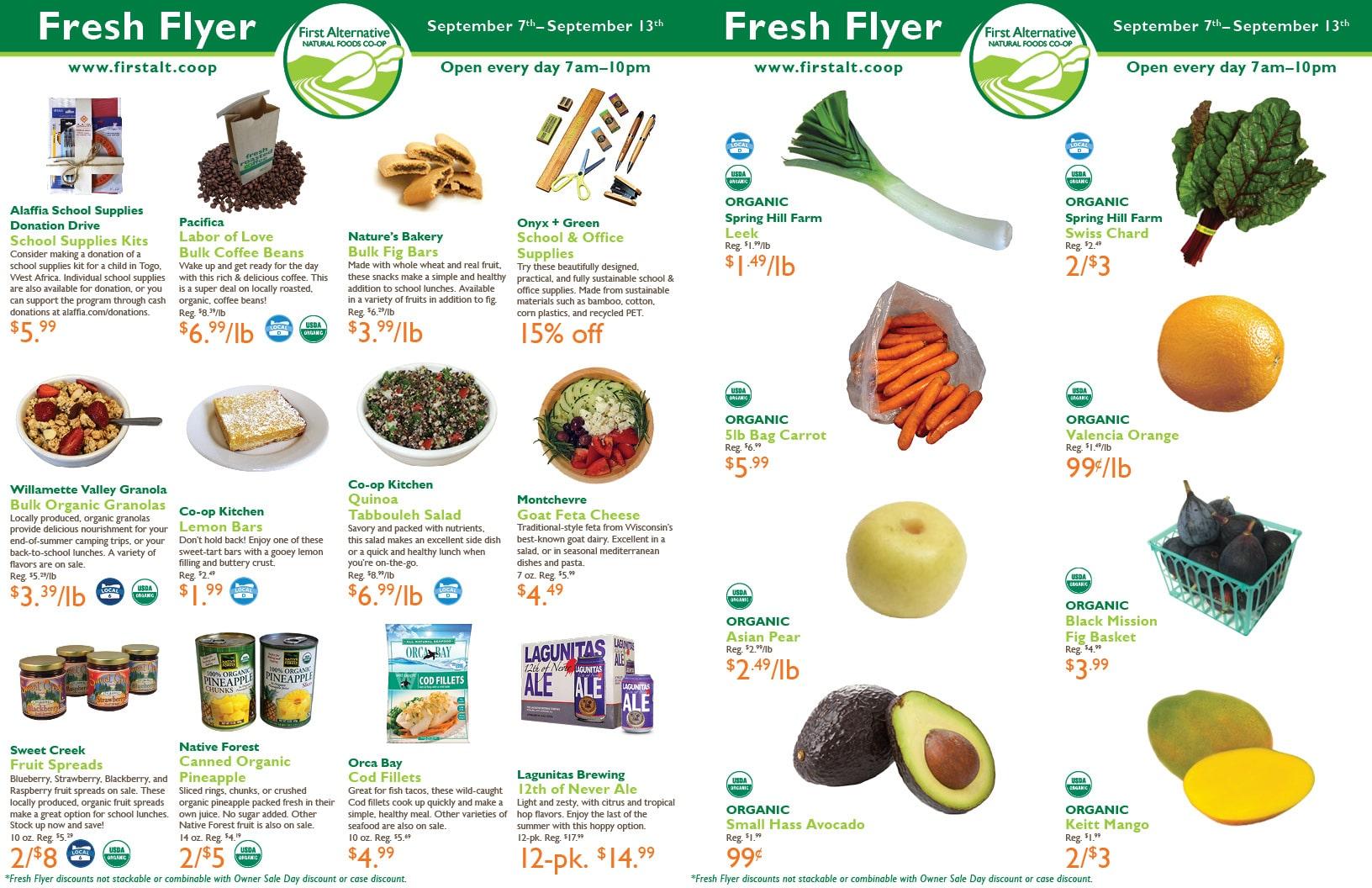 First Alternative Co-op Fresh Flyer September 7-13