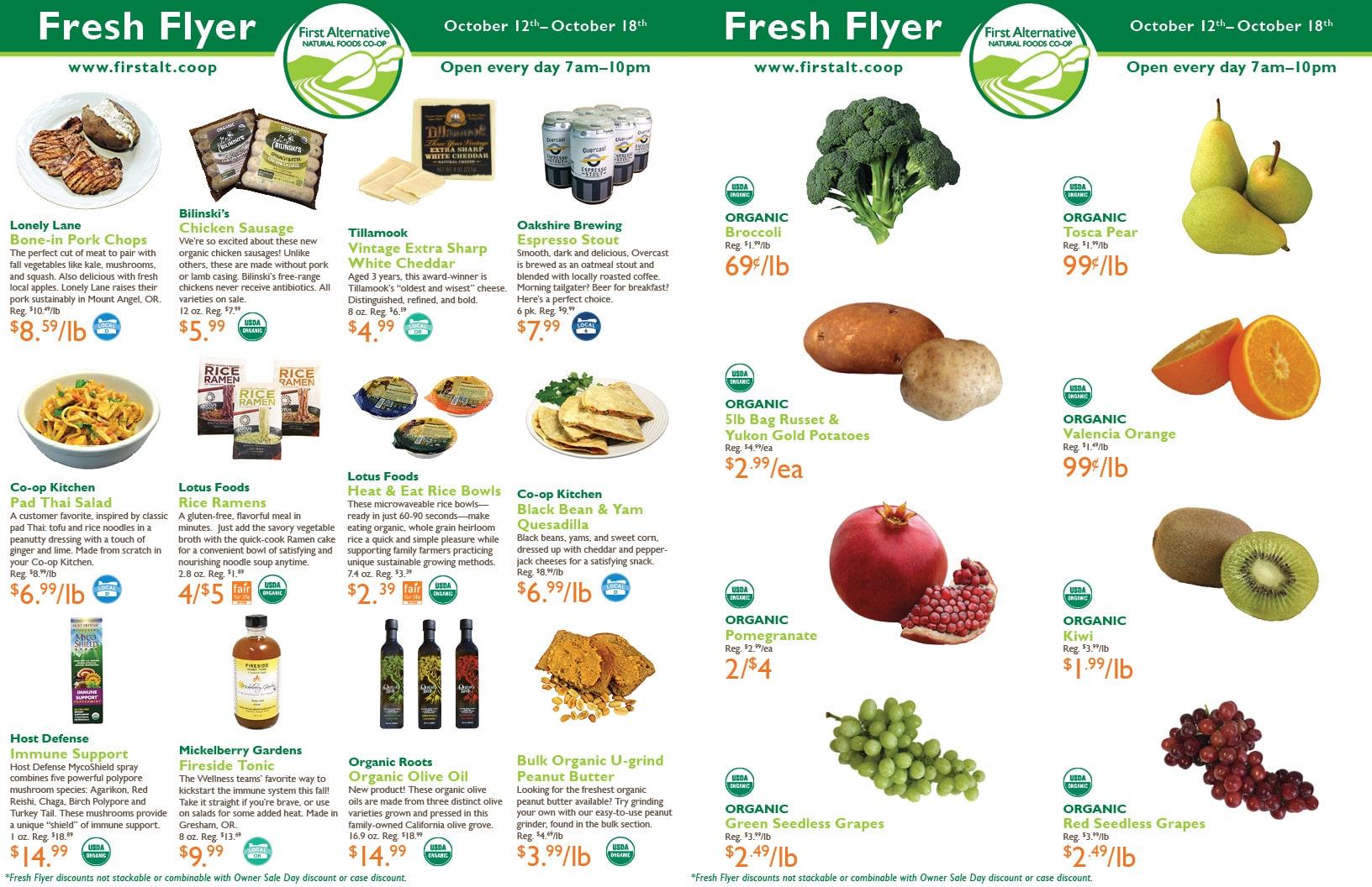 First Alternative Co-op Fresh Flyer October 12-18