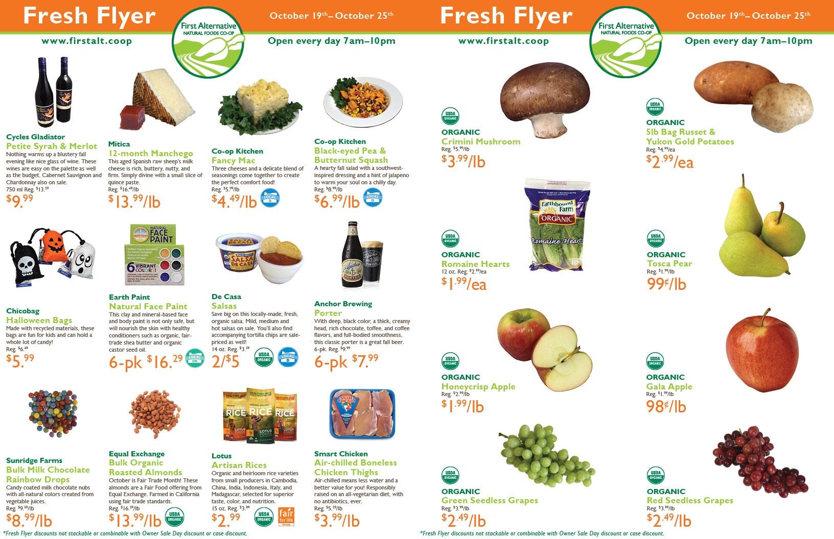 First Alternative Co-op Fresh Flyer October 19-25