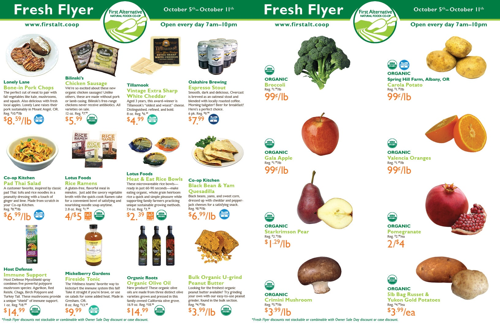 First Alternative Co-op Fresh Flyer October 5-11