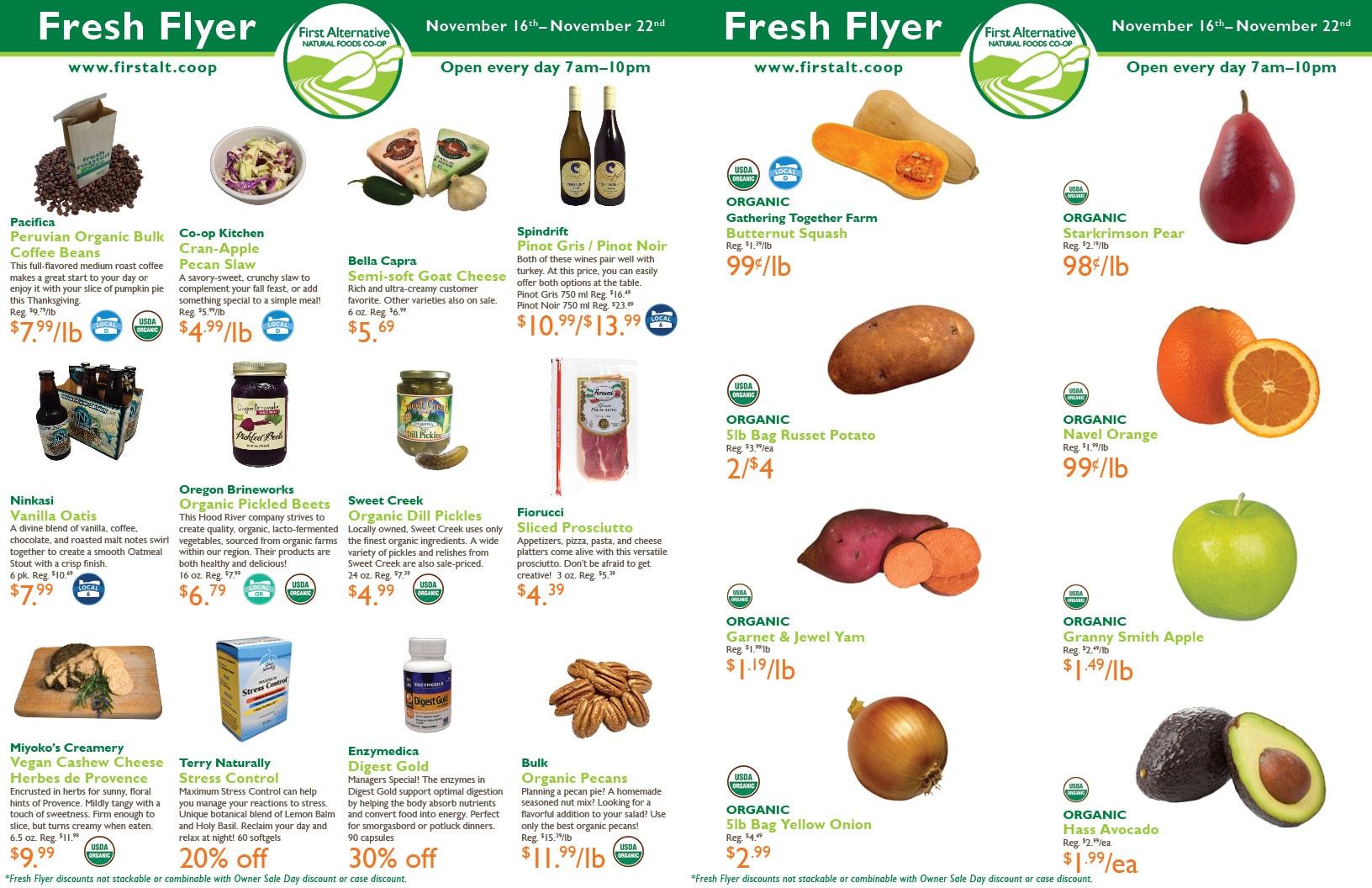 First Alternative Co-op Fresh Flyer November 16-22