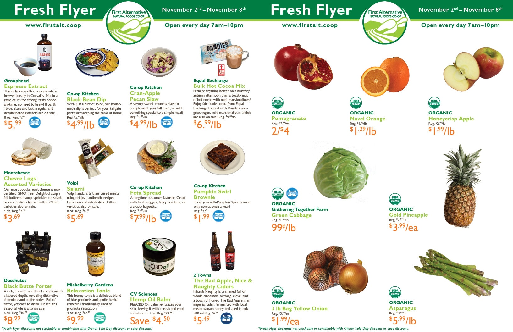 First Alternative Co-op Fresh Flyer November 2-8
