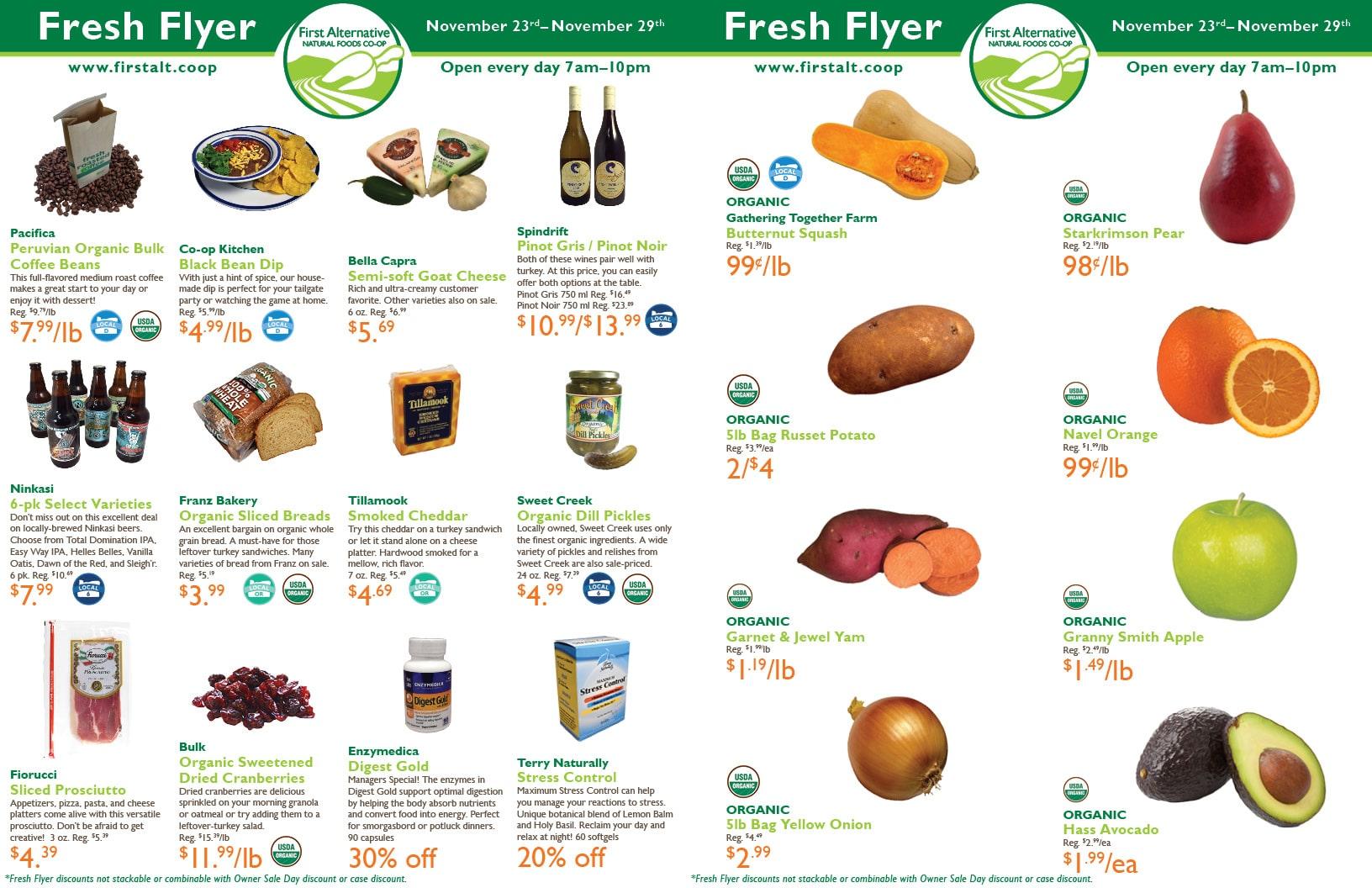 First Alternative Co-op Fresh Flyer November 23-29