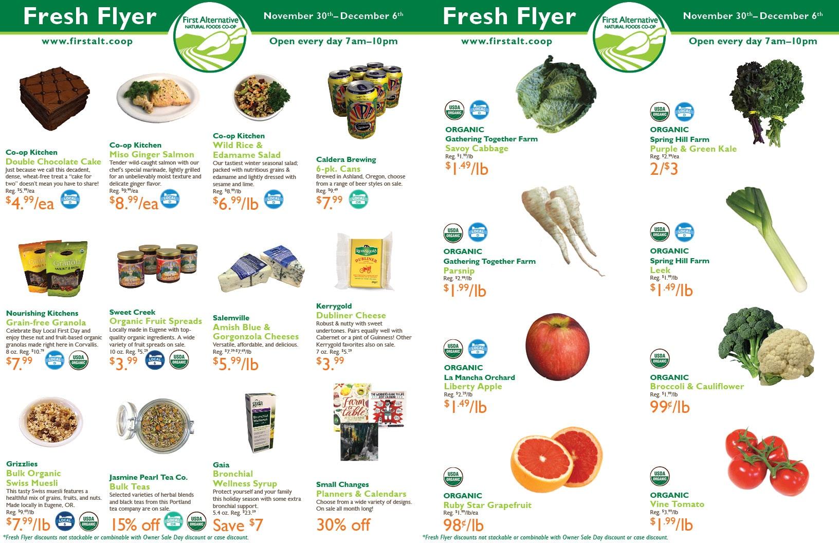 First Alternative Co-op Fresh Flyer Nov. 30-Dec. 6