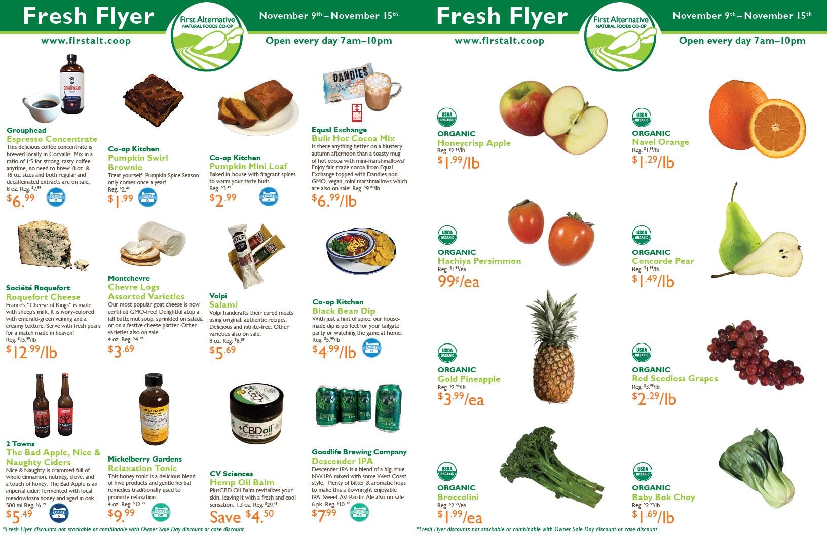First Alternative Co-op Fresh Flyer November 9-15