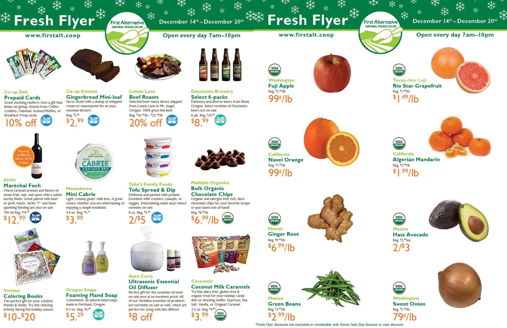 First Alternative Co-op Fresh Flyer Dec. 14-20