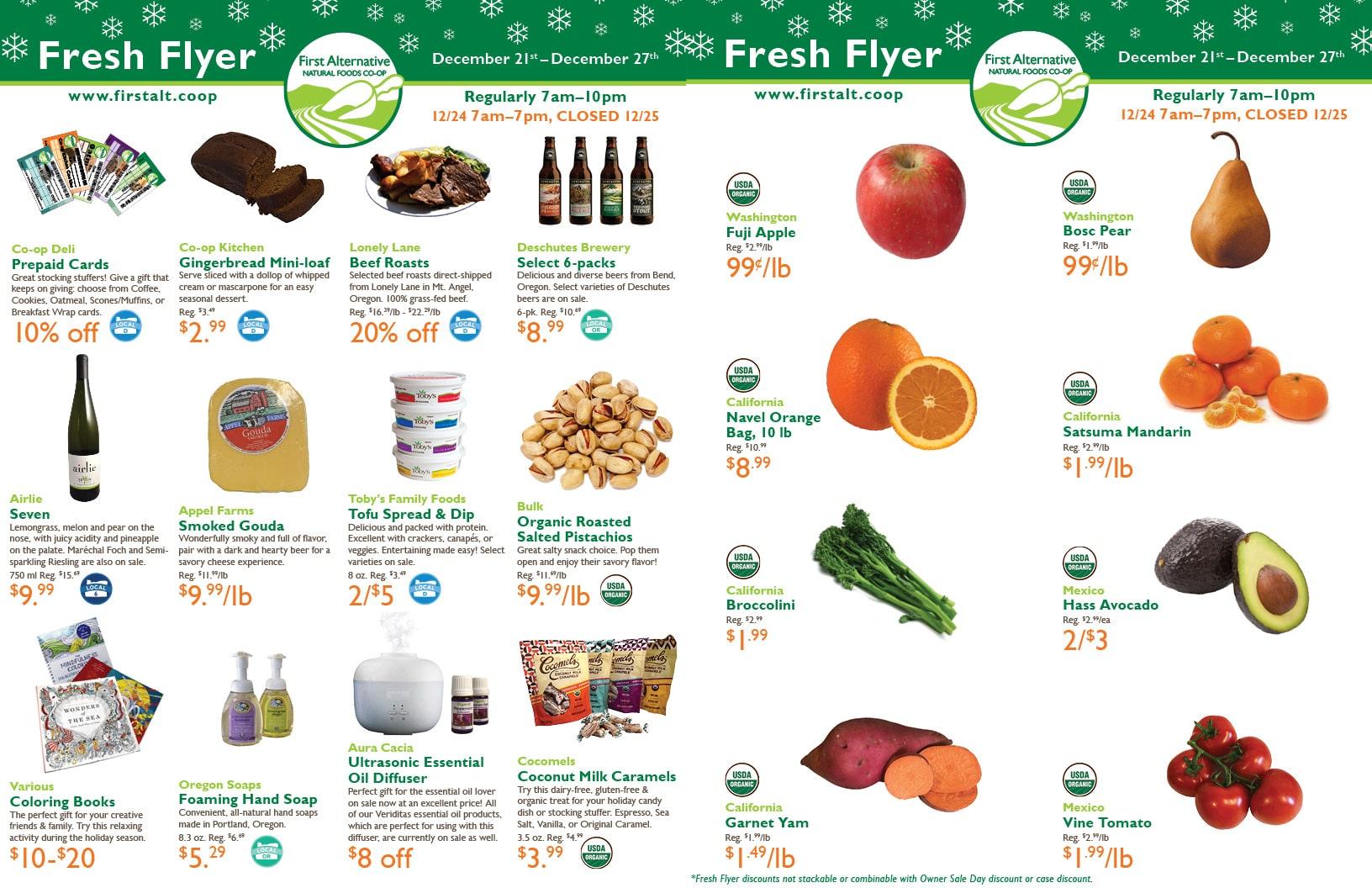 First Alternative Co-op Fresh Flyer Dec. 21-27
