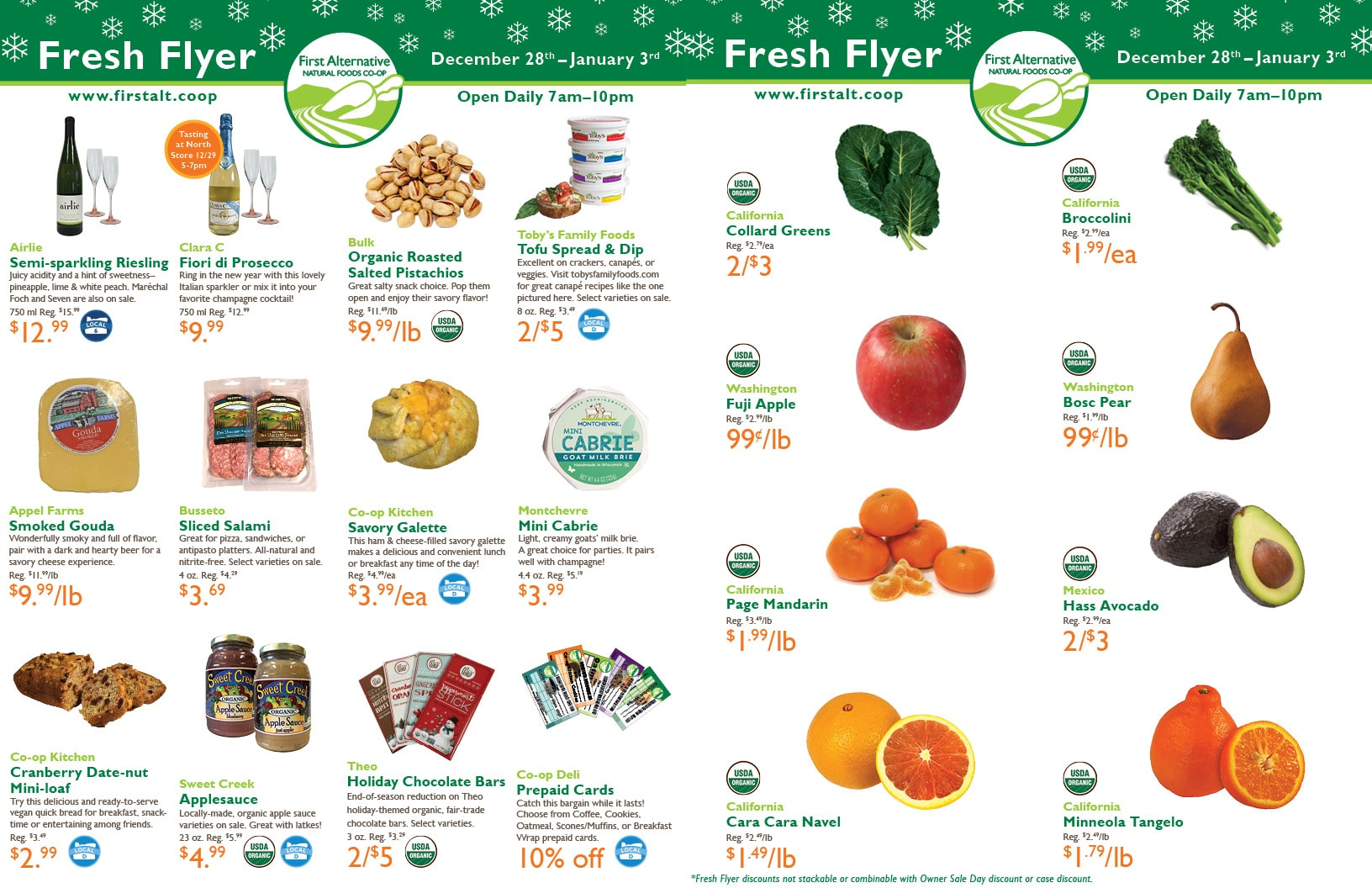 First Alternative Co-op Fresh Flyer Dec. 28-Jan. 3