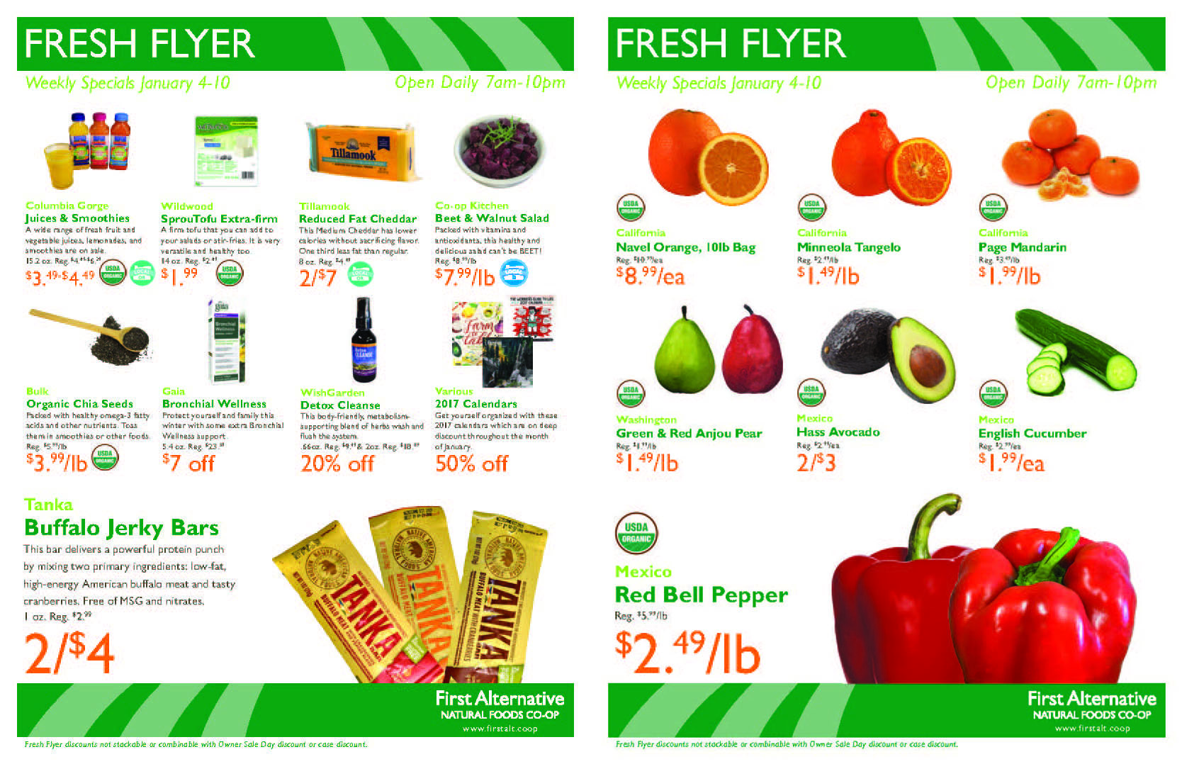 First Alternative Co-op Fresh Flyer Jan. 4-10