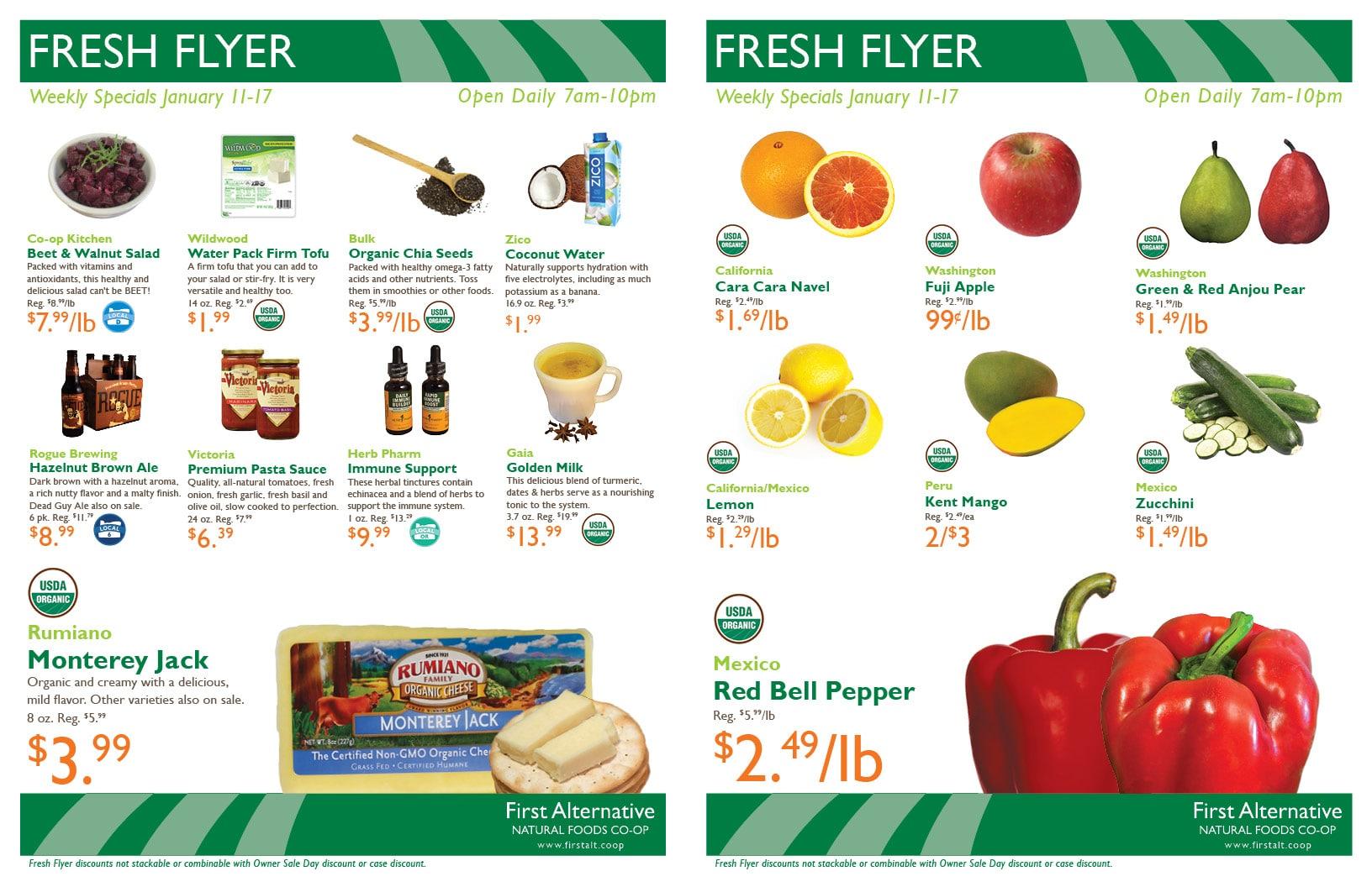 First Alternative Co-op Fresh Flyer Jan. 11-17