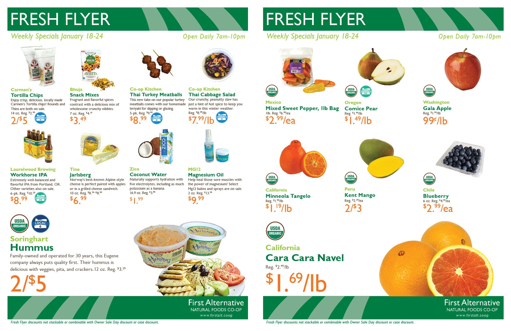 First Alternative Co-op Fresh Flyer Jan. 18-24