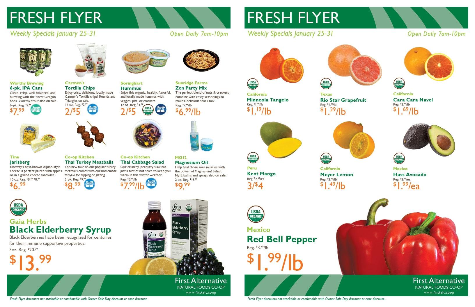 First Alternative Co-op Fresh Flyer Jan. 25-31