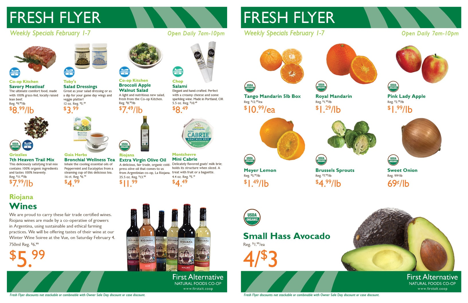 First Alternative Co-op Fresh Flyer Feb. 1-7