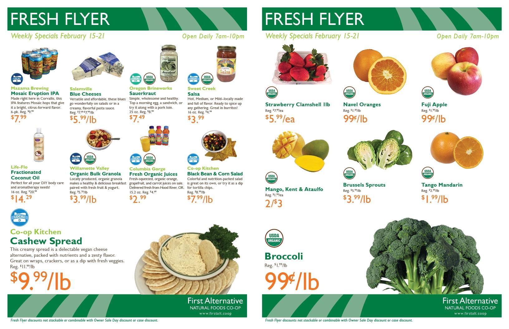 First Alternative Co-op Fresh Flyer Feb. 15-21