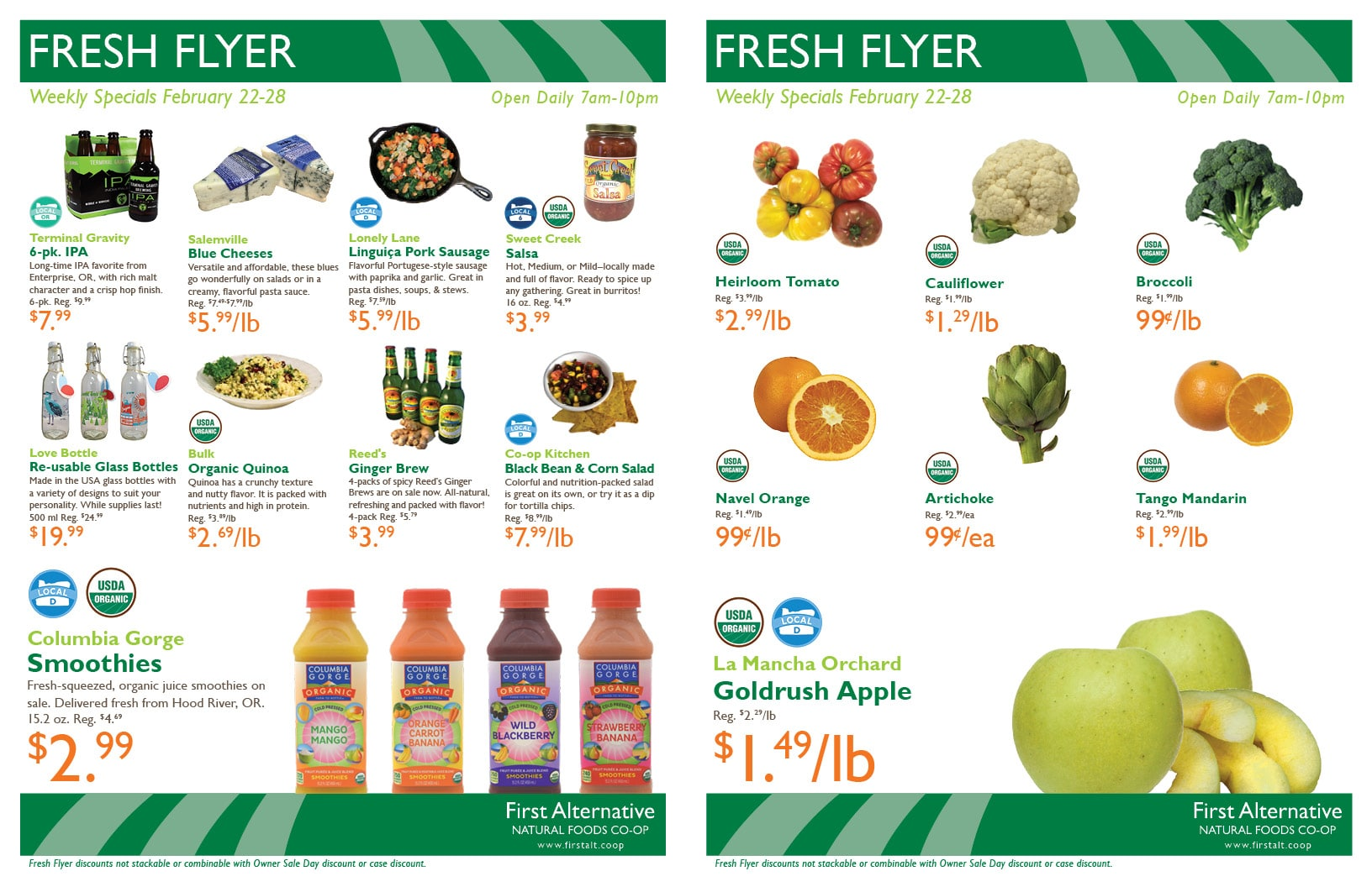 First Alternative Co-op Fresh Flyer Feb. 22-28