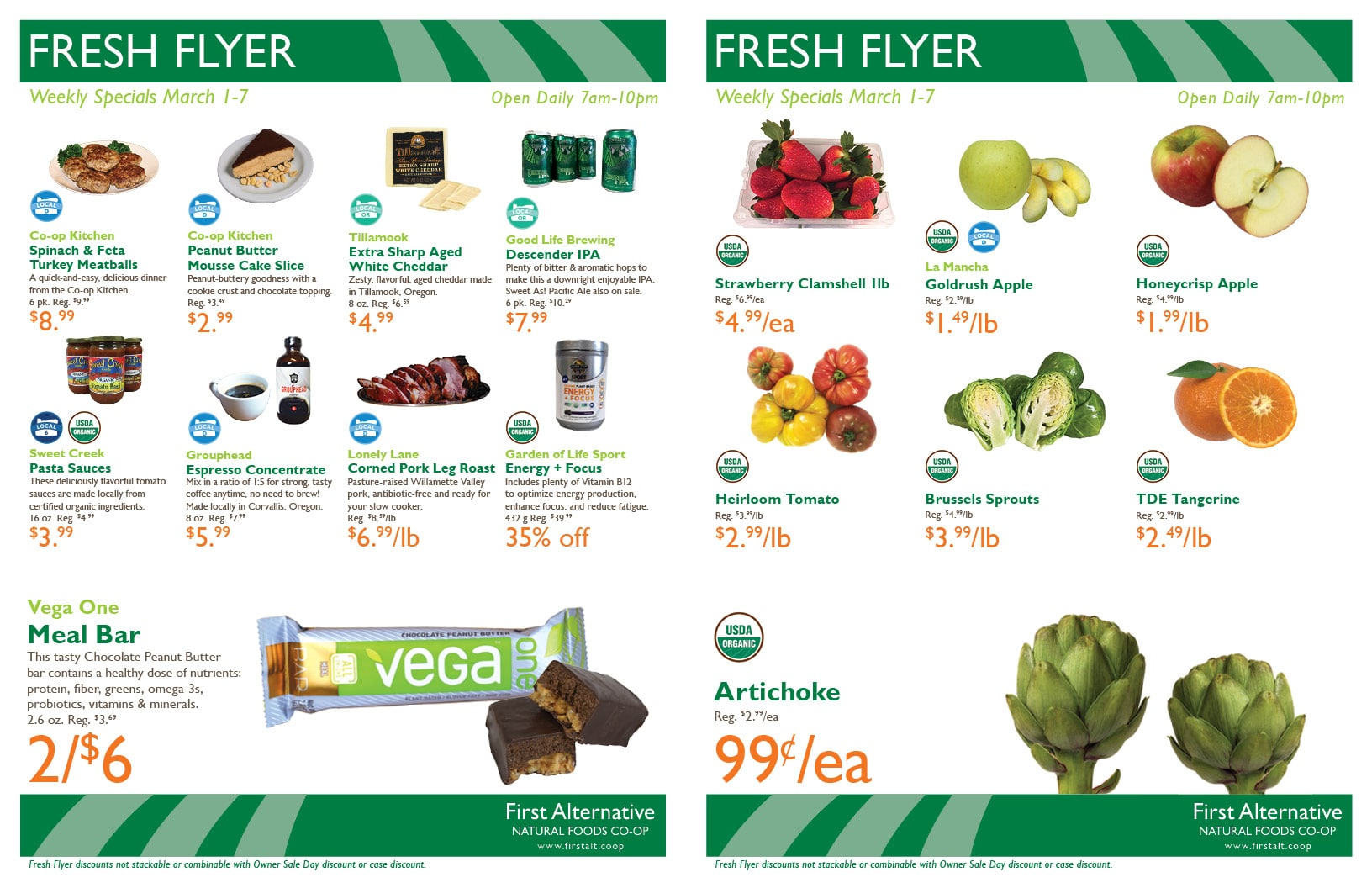 First Alternative Co-op Fresh Flyer Mar. 1-7