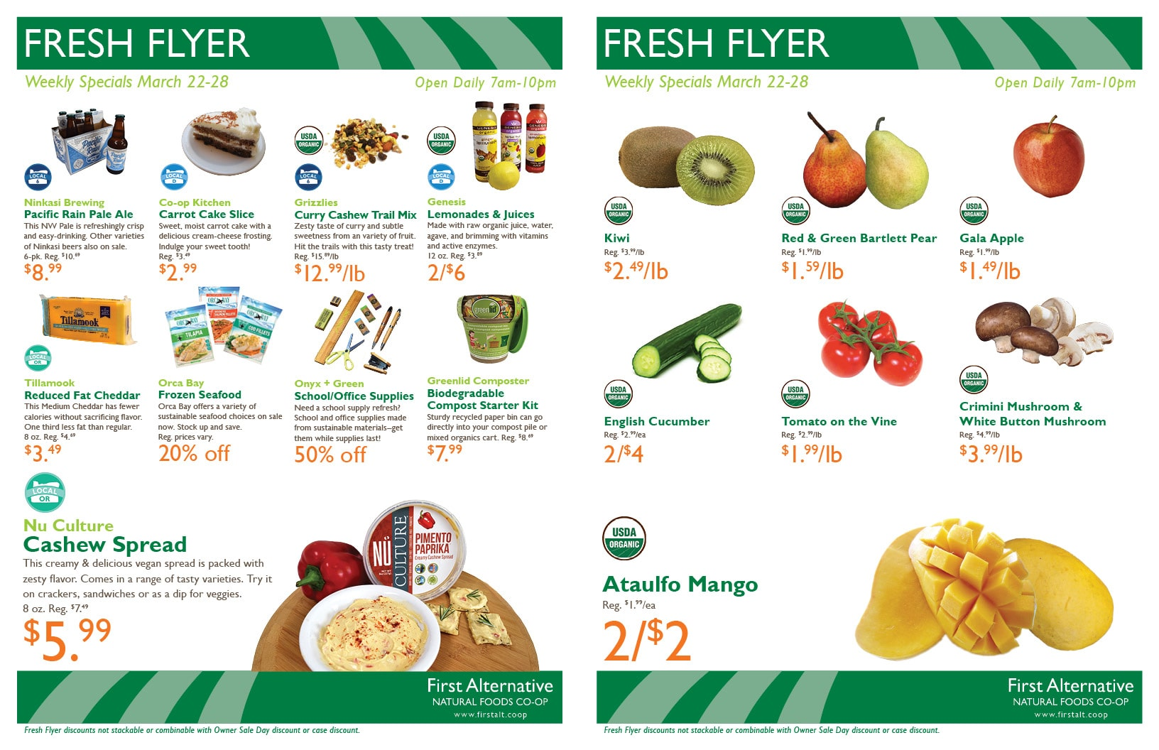 First Alternative Co-op Fresh Flyer Mar. 22-28