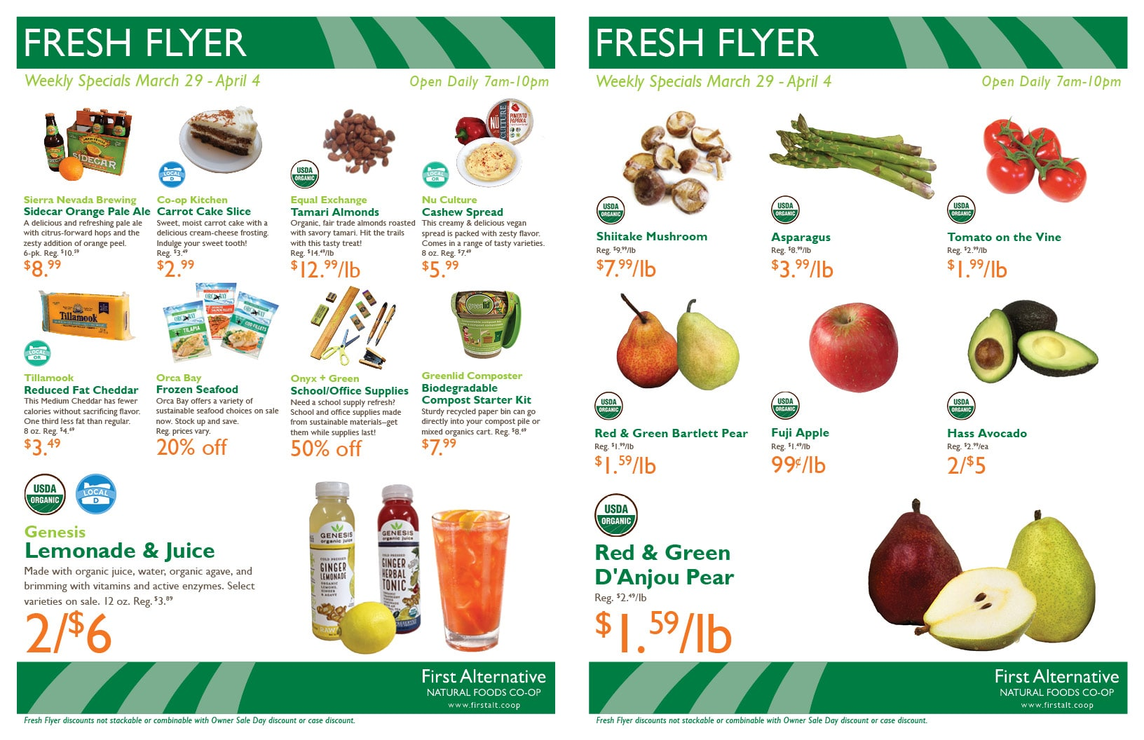 First Alternative Co-op Fresh Flyer Mar. 29-Apr. 4