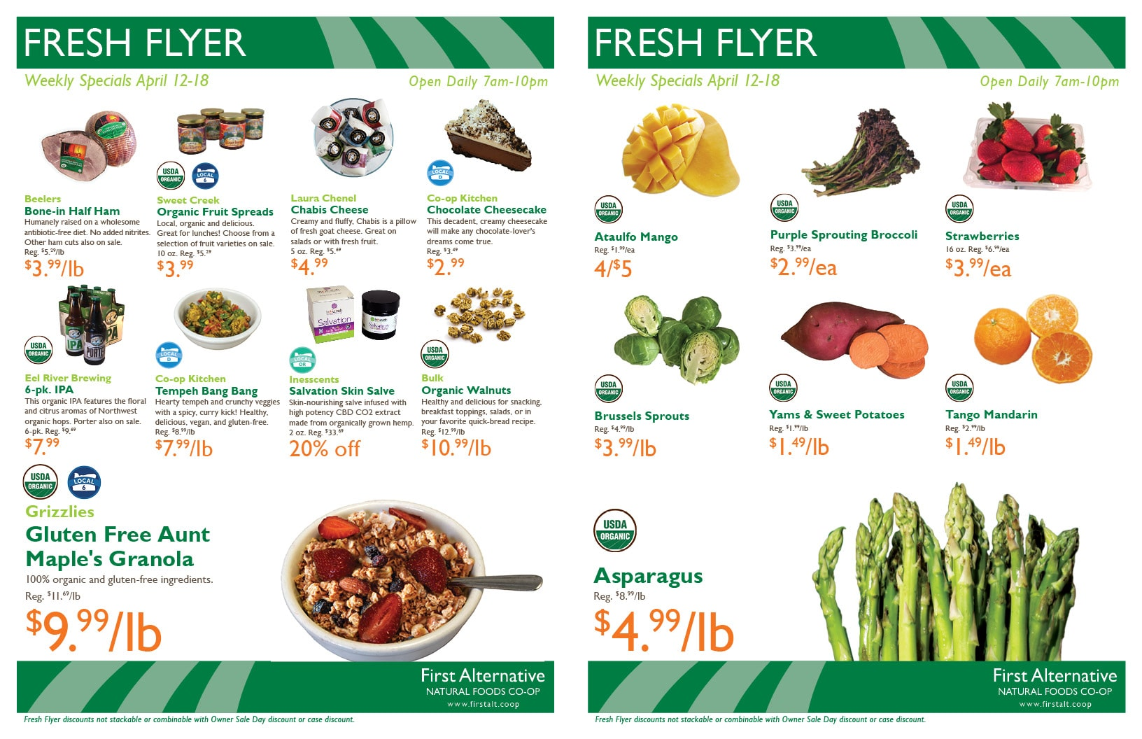 First Alternative Co-op Fresh Flyer Apr. 12-18