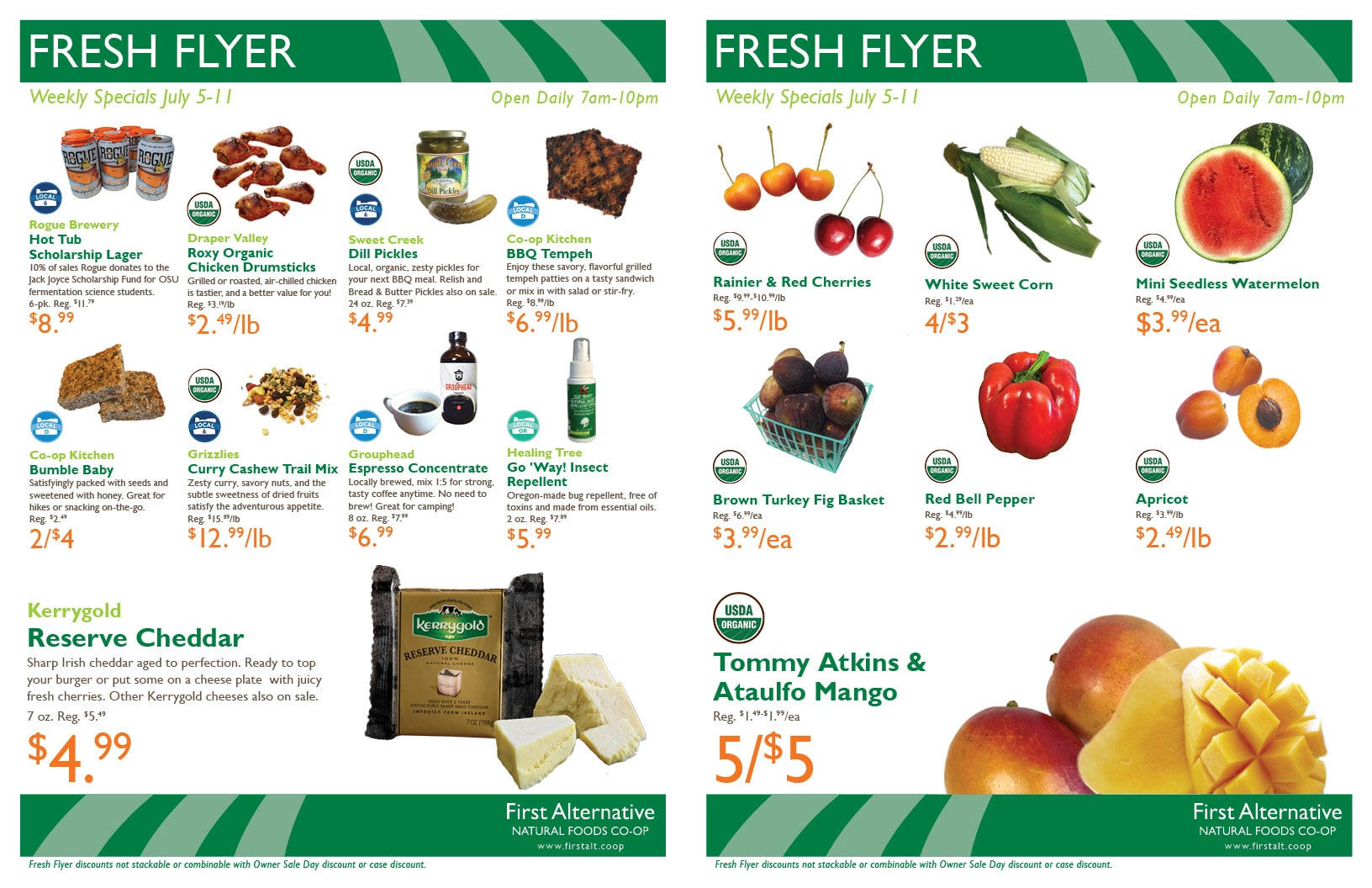 First Alternative Co-op Fresh Flyer July 5-11