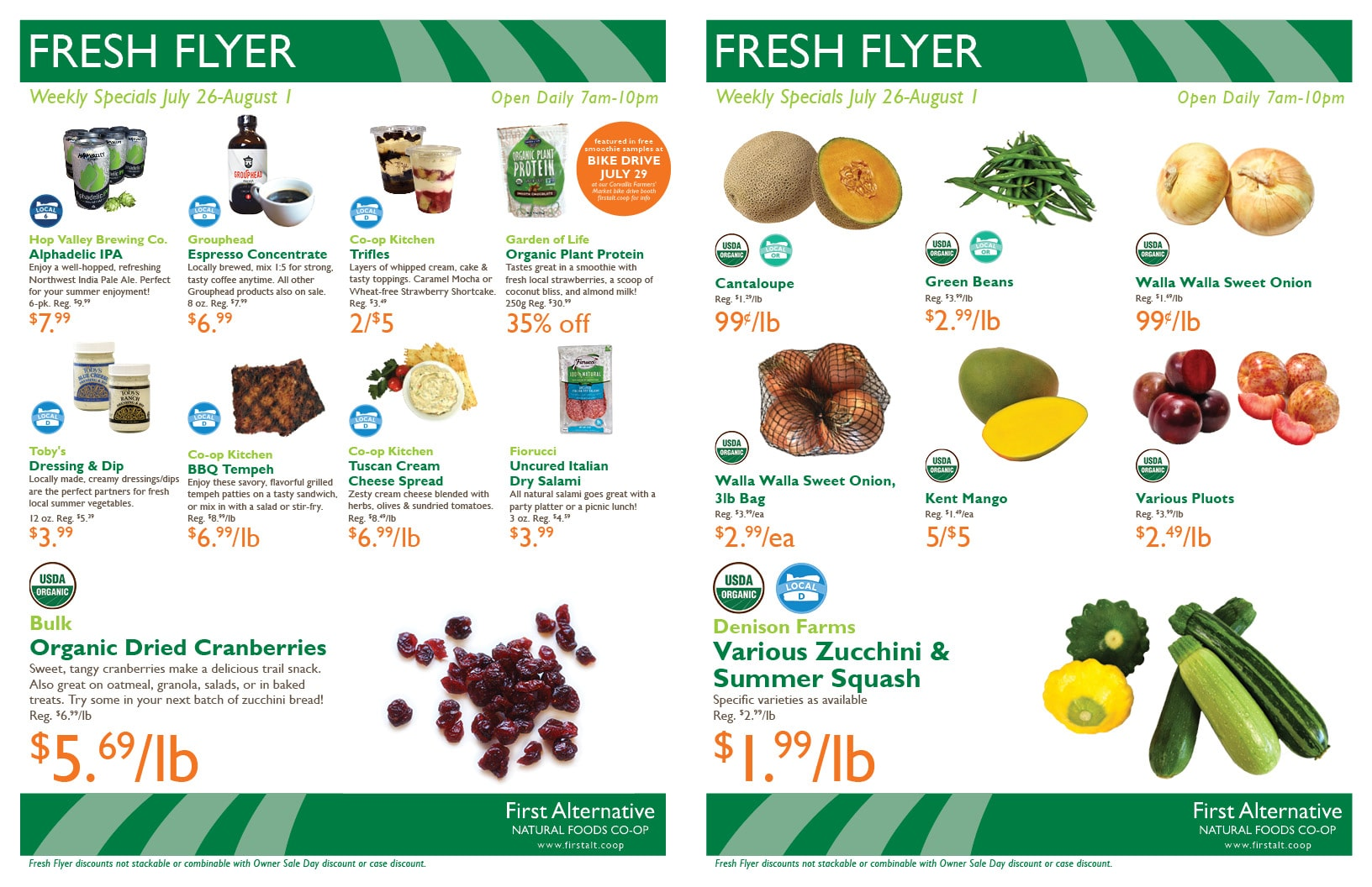 First Alternative Co-op Fresh Flyer July 26-August 1