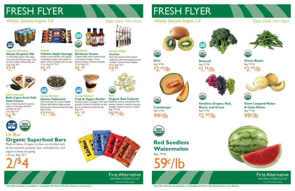 First Alternative Fresh Flyer Aug 2-8